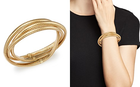 Bloomingdale's Triple Tubogas Bracelet in 14K Yellow Gold - 100% Exclusive_2